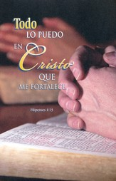 Todo lo puedo en Cristo - Fil 4:13 RVR 1960, Boletines, 100  (I Can Do All Things - Php 4:13 RVR 1960, Bulletins, 100)