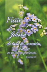 Purple Flowers Spanish Bulletins (Proverbs 3:5, RVR 1960) 100