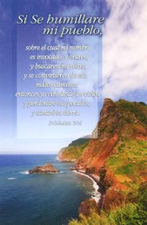 Cliff and Ocean Spanish Bulletins (2 Chronicles 7:14, RVR 1960) 100