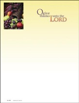 O Give Thanks Unto the Lord, Letterhead, 100
