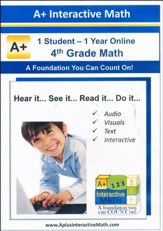 A+ Interactive Online Math Grade 4 Full Curriculum (1 Year)