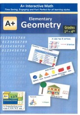 A+ Interactive Supplemental Math Elementary Geometry on CD-ROM