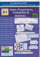 A+ Interactive Supplemental Math Ratio, Proportions, Probability & Statistics on CD-ROM