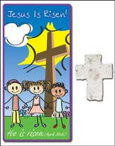Risen! Children's Plantable Seed Cross and Bookmark