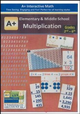 A+ Interactive Supplemental Math Elementary & Middle School Multiplication on CD-ROM