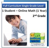 A+ Interactive Online Math Grade 2 Full Curriculum (1 Year)
