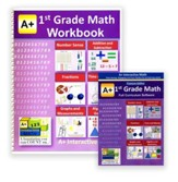 A+ Interactive Math Premium Edition CD & Workbook Bundle, Grade 1