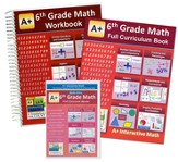 A+ Interactive Math Textbook, Workbook & eBook CD Software Bundle, Grade 6