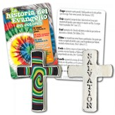 Gospel Colors Pocket Cross w/ Tie Dye Card, Spanish