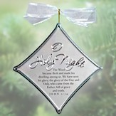 O Holy Night Christmas Carol Silver Ornament