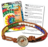 Gospel Colors Bead Bracelet with Tie Dye Card, KJV