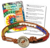 Gospel Colors Bead Bracelet with Tie Dye Card, Spanish+