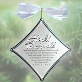 Hark The Harold Angels Sing Christmas Carol Silver Ornament