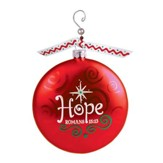 Hope (Rom. 15:13), Glass Ornament With Swirl