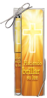 Shining God's Light Pen and Bookmark Set,  Spanish