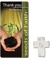Thank You For Planting Seeds of Faith, Seed Cross with Bookmark
