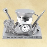 Police Gear Desk Clock, Isaiah 41:10