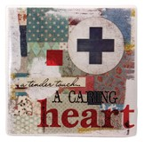 Nurse, Tender Touch, A Caring Heart Tile