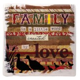 A Family is a Little Word Created By Love Tile