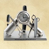 Hairdresser Equipment Desk Clock, Psalm 90:17