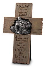 A Savior Is Born--Christmas Cross