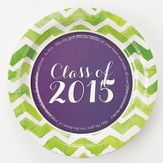 Class of 2015 Graduation Paper Plates, Small 8 pack
