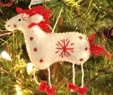 Snowflake Horse Ornament, White, Fair Trade Product