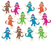 Sock Monkeys (Solids) Classic Accents Variety Pack  (36 Pieces)