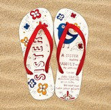 Sister Flip Flops, Small, Size 5-6