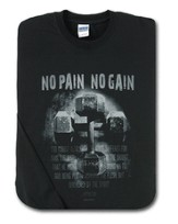 No Pain, No Gain, Black Long-sleeve Tee Shirt,  Youth Small