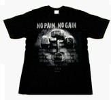 No Pain, No Gain, Black Short-sleeve Tee Shirt,  Youth Large