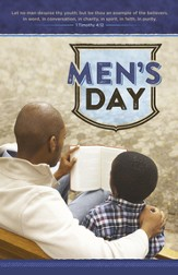 Men's Day 1 Tim. 4:12 (1 Timothy 4:12, KJV) Bulletins, 100
