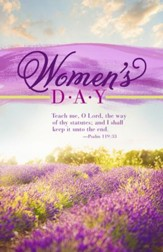 Women's Day - Teach Me (Psalm 119:33, KJV) Bulletins, 100