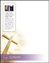 Easter - The Resurrection (John 11:25-26, KJV) Letterhead, 100