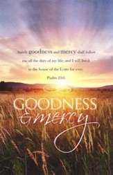 Funeral - Goodness and Mercy (Psalm 23:6, KJV) Bulletins, 100