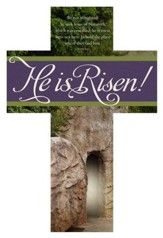 Easter, He is Risen (Mark 16:6, KJV) Cross Design Bookmarks, 25