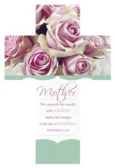 Mother's Day Wisdom (Proverbs 31:26, KJV) Cross Design Bookmarks, 25