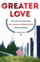 Memorial Day (John 15:13, KJV) Bulletins, 100