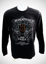Redemption 2, Black Long-sleeve Tee Shirt, XX-Large (50-52)