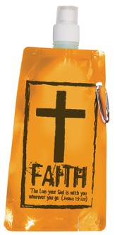Faith Reusable Foldable Water Bottle