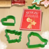 Christmas Cookie Cutters with Mini Book