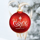 Christmas Swirls - Glass Ornament - Hope