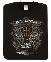 Redemption 2, Black Short-sleeve Tee Shirt, Large (42-44)