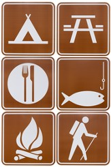 Camp Discovery VBS 2015: Camp Sign Cut Outs, Pack of 6 (21 inches each)