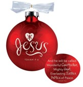 Jesus, Swirls Ornament