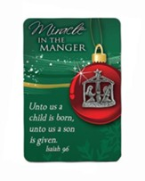 Miracle in the Manger Lapel Pin