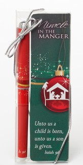 Miracle in the Manger Bookmark and Pen Set