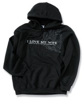 I Love My Wife, Black Hooded Sweatshirt, XX-Large (50-52)