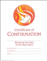 Certificate of Confirmation, Pack of 25