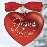 Jesus the Messiah Heart Ornament - Slightly Imperfect